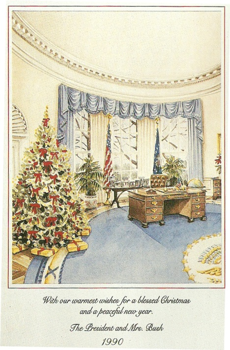 White house holiday card white house 2016 the painting above is a work by thomas williams jones and it is of the north entry to the white house it became the cover for this 1988 official christmas m4hsunfo