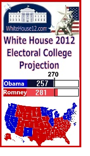 New White House 2012 Projection Has Romney Winning By 24 Electoral Votes